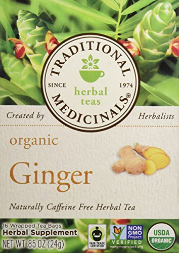Traditional Medicinals Organic Ginger Herbal Wrapped Tea Bags - 0.85 oz - 16 ct