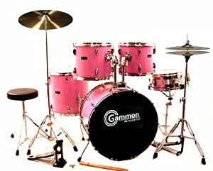 pink drum set for sale complete full size kit with cymbals and stands musical. Black Bedroom Furniture Sets. Home Design Ideas