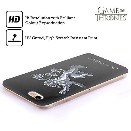 Officiel HBO Game Of Thrones Argent Lannister Symboles Étui Coque en Gel molle pour Apple iPhone 6 / 6s