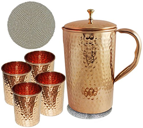 pure-copper-jug-and-4-water-glasses-set-unique-product-for-ayurvedic-healing-capacity-16-litre-by-ro