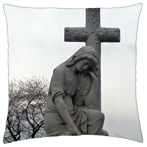 Jidmerrnm The Virgin Mary - Throw Pillow Cover Case 18 x 18 Inch ()