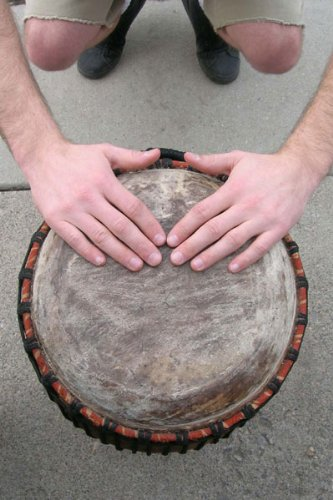 Classic Hand-carved Quinto Conga Drum - 10x28 African Drum from Ghana by Africa Heartwood Project