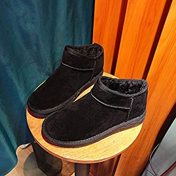 Shukun Botines Winter Snow Boots Female A Pedal Cotton Shoes Men and Women Bread Shoes Short Tube Flat Boots Couple Models Boots: Amazon.es: Deportes y aire ...