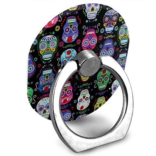 Makernice Suger Skulls Cell Phone Finger Holder, Amoner 360¡ã Rotation Smartphone Ring Grip Stand Car Mounts for Smartphones and Tablets]()