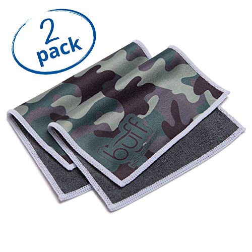 Buff Quick Cloth - 2 Pack with Case | Double Sided Ultrafine Microfiber Cloth | Designed for Eyeglasses, Phones, Tablets, Lenses | Camo Print ...