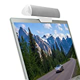GOgroove USB Laptop Speaker Bar with Clip-On Portable Design (White) - Works with Acer , Apple , ASUS , Dell , HP , Samsung and More Computers