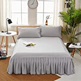Hllhpc Bed skirt single piece bed cover bed set single Sims mattress