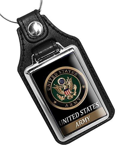 Faux Leather Key Tag United States Army - Key Leather Fob Army