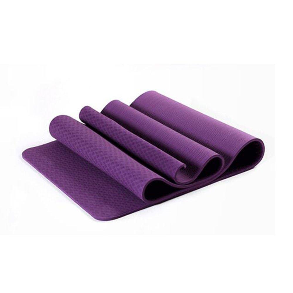 violet  YJD EnvironneHommest Insipide antidérapant TPE épaississeHommest Exercice Gymnastique Fitness Tapis Tapis de Yoga, Quatre Couleurs sont Disponibles