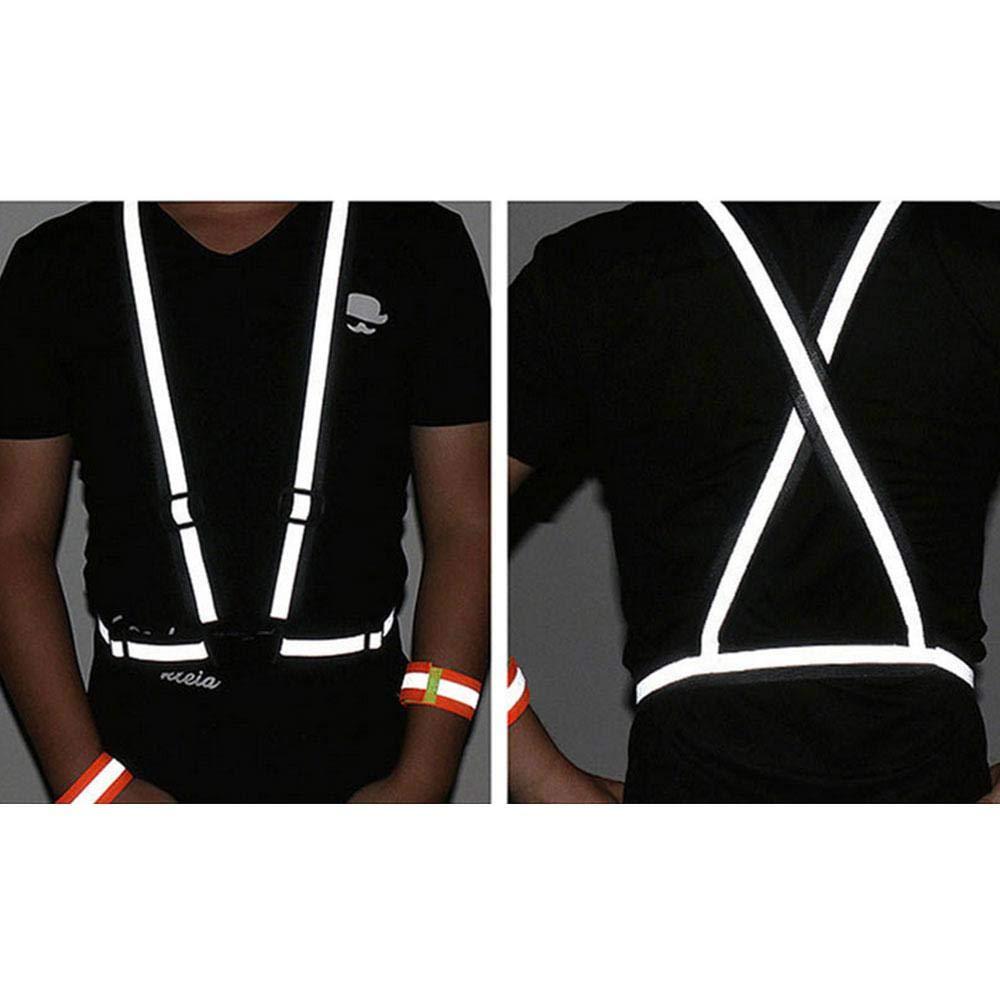 reflektoren joggen leegoal hoch sichtbar Reflektierende Warnweste mit Verstellbarem Schultergurt Atmungsaktiv L/öcher ultrad/ünne Leichte Sicherheitsweste f/ür Laufen//Radfahren//Wandern//Walking