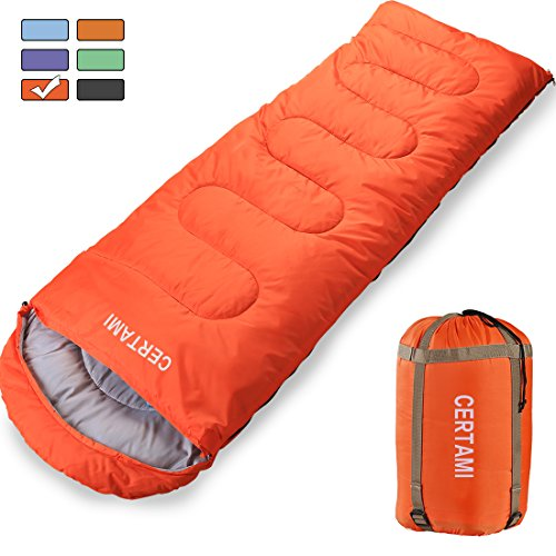 CERTAMI Sleeping Bag Envelope Lightweight Portable Waterprooffor Adult 3 Season Outdoor Camping Hiking