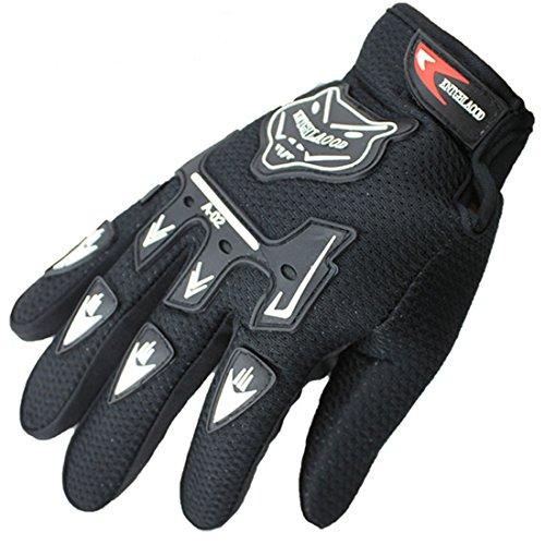 Ciysty Autumn winter cycling glove fox's head breathable movement full finger gloves (Black)