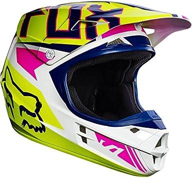Casco Moto Fox Niños V1 Race Amarillo