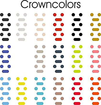 Crown Colors - Premium Colors, Logos, Emojis and More for Your Apple Watch Crown (18 Color Kit)