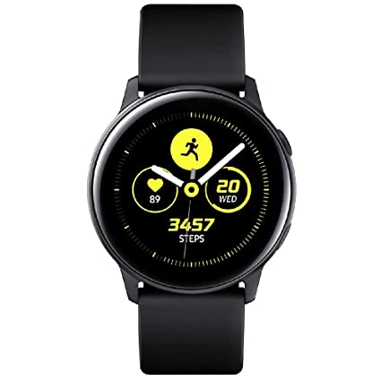 Samsung Galaxy Watch Active - 40mm, IP68 Water Resistant, Wireless Charging, SM-R500N International Version (Black) (Renewed)