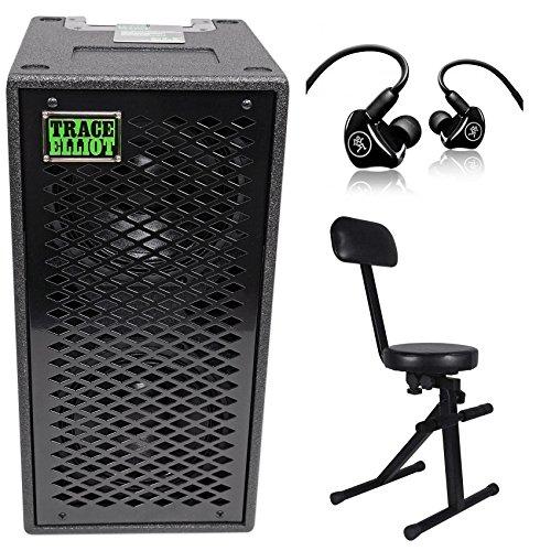 Trace Elliot ELF 2x8 Dual 8'' Bass Guitar Speaker Cabinet+Mackie In-Ear Monitors by Trace Elliot