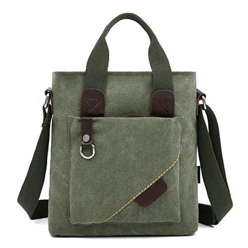 Männer Vintage-Leinwand Messenger Aktentasche Schulter Tote Schulranzen Freizeit Tasche,C-28cm*8cm*31cm