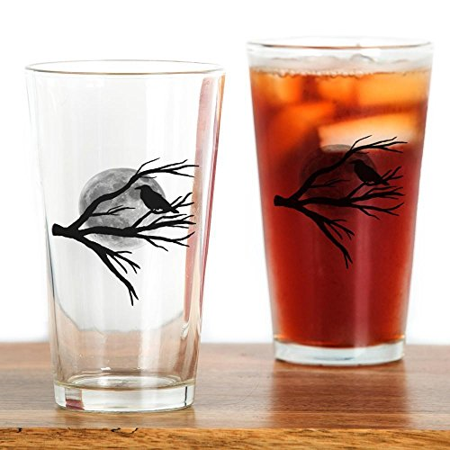 CafePress - Moon Raven - Pint