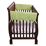 Trend Lab Fleece CribWrap Rail Covers for Crib Sides (Set of 2), Sage Green, Wide