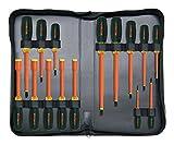 Westward 5UFT6 Insulated Screwdriver/Nutdriver Set, 15Pc