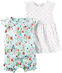 Carter\'s Baby Girls 2 Pk 121H338, Turquoise, 6 Months Baby