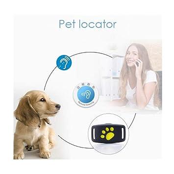 QROU Rastreador de GPS (Mundos pequeño Super niños Perros Gatos Mini Personal Localizador GPS para