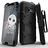 HTC 10 Case, Zizo [Bolt Series] with [HTC 10 Tempered Glass Screen Protector] Kickstand [12 ft. Military Grade Drop Tested] Holster Belt Clip - HTC 10