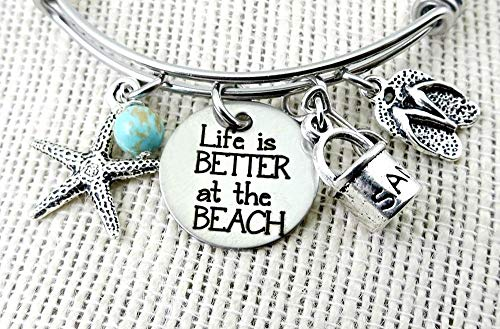 BEACH Bracelet Life Is Better at the BEACH Bangle