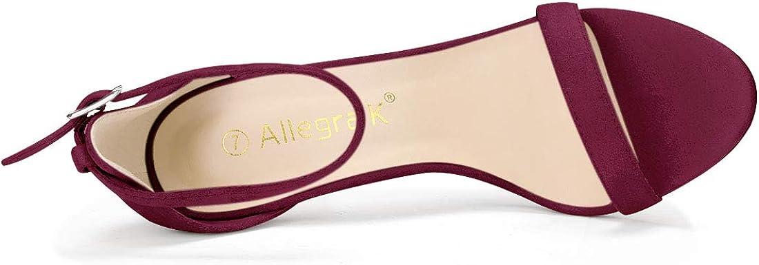 Allegra K Womens Stiletto High Heels Ankle Strap Sandals