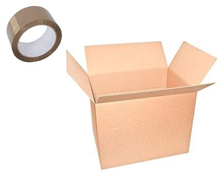 palucart 5 cajas mudanza + 1 rollo de cinta adhesiva habana cinta 50 m x 66 m