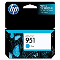 HP 951 Cyan Original Ink Cartridge (CN050AN) from Hewlett Packard Inkjet Printers