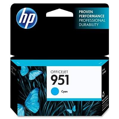 HP 951 Cyan Original Ink Cartridge (CN050AN) by Hewlett Packard Inkjet Printers
