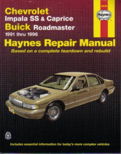 H24046 Haynes Chevrolet Impala SS Caprice Buick Roadmaster 1991-1996 Auto Repair Manual