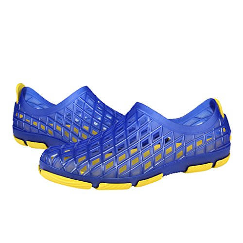 Dear Time Hollow Out Non-slip Summer Breathable Soft Beach Water Sandals For Men Blue lvpwiF