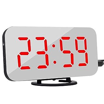 Reloj Despertador Digital, Pantalla LED Reloj Despertador Digital Pantalla Grande Ajusta Automáticamente El Brillo Grande