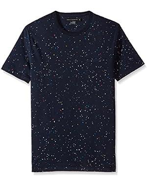 Men's Short Sleeve Crew Neck Printed Cotton T-Shirt