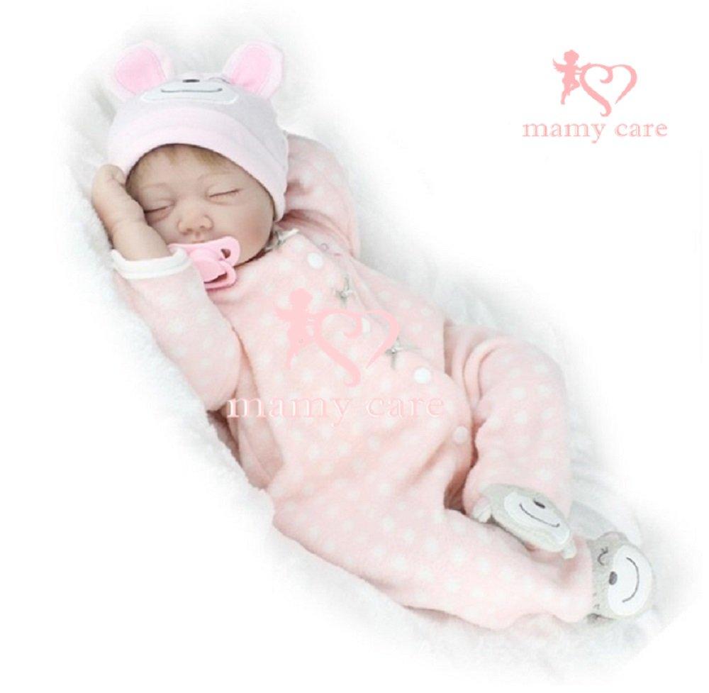 【mamy care】 まるで 本物 の 赤ちゃん 癒し の ドール 抱き人形 ドールセラピー 認知症 高齢者 介護 現場でも効果を発揮 リアル な ケア人形 55㎝ (ねんね赤ちゃん) B01N28KXRW ねんね赤ちゃん ねんね赤ちゃん