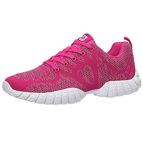 ALEADER+Women%27s+Lightweight+Knit+Sport+Running+Shoes+Rose+Red+8+D%28M%29+US