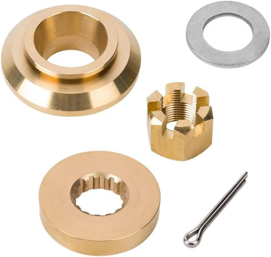 Qiclear Marine Upgrade Propeller Installation Hardware Kits fit Yamaha Outboard150-300HP, Thrust Washer/Spacer/Washer/Nut/Cotter Pin, Ref No.6E5-45987-01