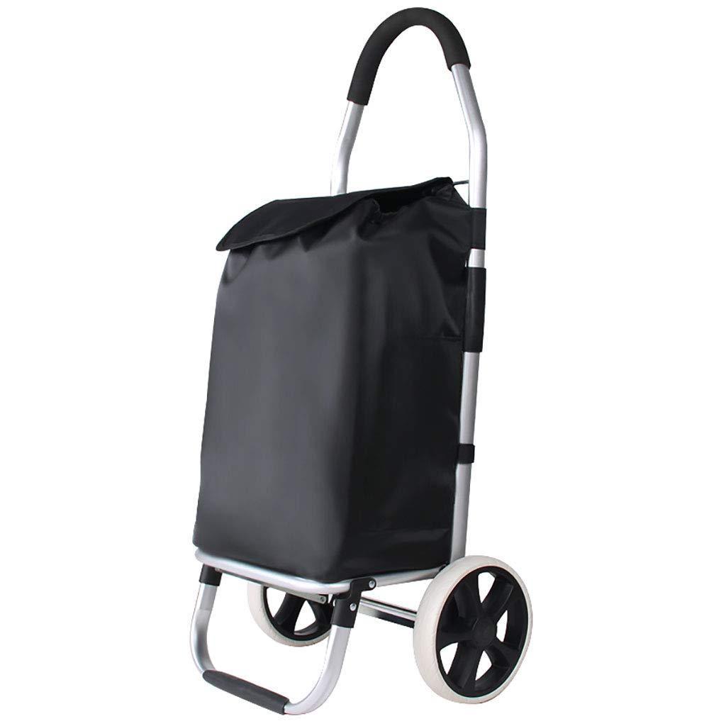 ショッピングキャリー 家庭用ショッピングカートのトレーラー荷物カートトロリープル折りたたみ式携帯トロリー B07HKW9PTY