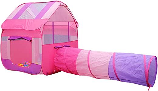 Nbibsaacy Tienda casa casita Carpa campaña para niñas Tienda de Coches para niños Tienda de Juegos para Padres e Hijos Tienda de Dibujos Animados para Coches,Pink: Amazon.es: Deportes y aire libre