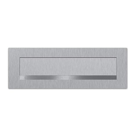 Briefeinwurf 350x80mm Briefeinwurf Edelstahl mit unsichtbarer Befestigung