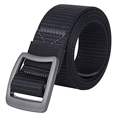JINIU Men's Nylon Canvas Web Belt Military Casual Outdoor Army Tactical Buckle Belt