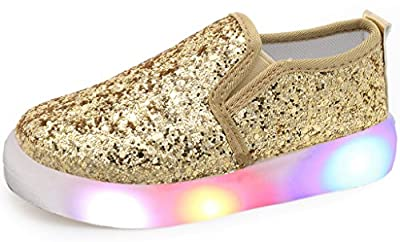 UBELLA Children Boy's Girl's Slip-on Flashing LED Gomminos Loafers