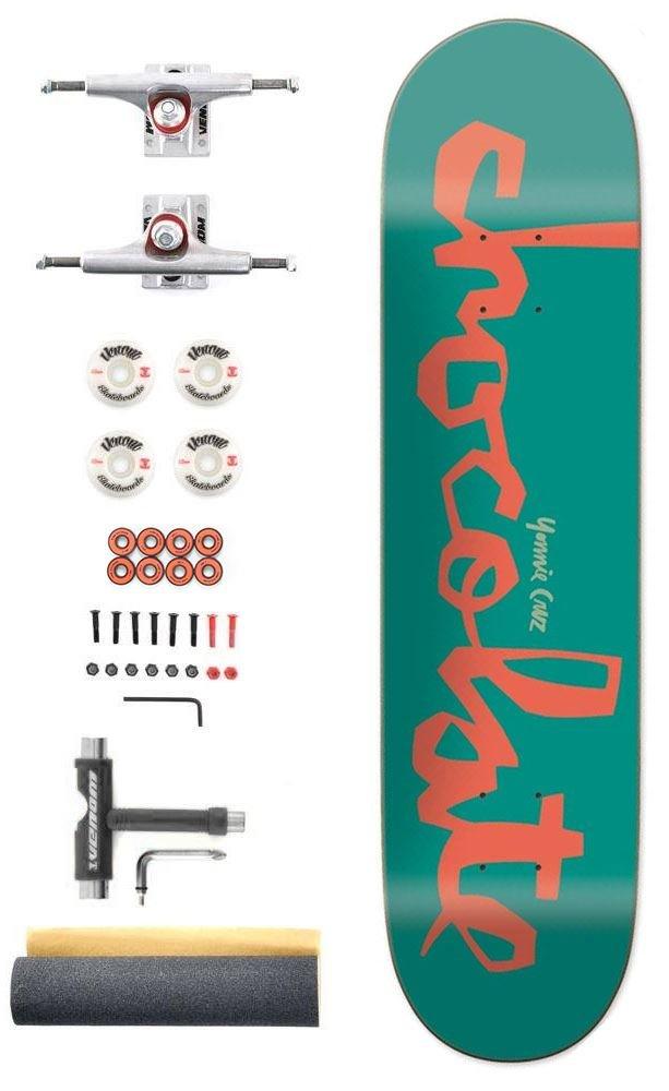 wheels Venom Skateboards Core Undercarriage Kit Raw Trucks 5.25//ABEC 9 inc Griptape Skate Tool beaings and bolts! Trucks