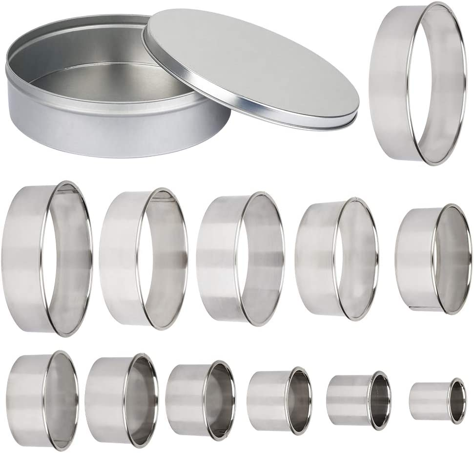 3 Set Round Circle Stainless Steel Cookie Cutter Biscuit DIY Baking Pastry Mold