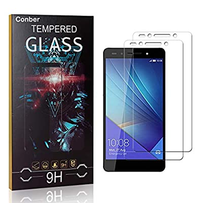 Conber Screen Protector for Huawei Honor 7, (2 Pack) 9H Tempered Glass Film Screen Protector for Huawei Honor 7 [Scratch-Resistant][Shatterproof]: Baby