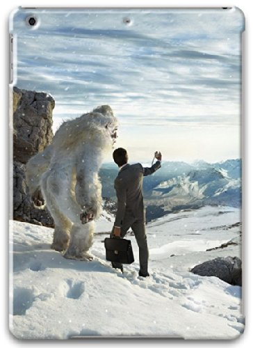 Apple iPad Air Case, Apple iPad Air 3D Cases Hard Shell White Cover Skin Cases Bigfoot Meeting