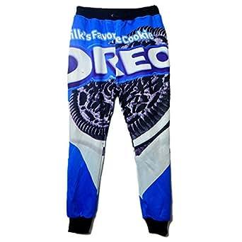 Cool joggers pants Print Oreo Cookie sweatpants for men/women hip hop trousers (M)