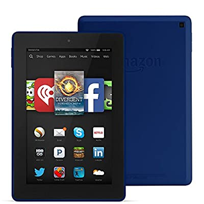 """Fire HD 7, 7"""" HD Display, Wi-Fi, 16 GB - Includes Special Offers, Cobalt"""